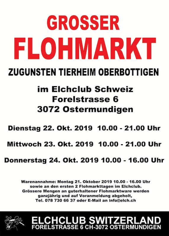 Di , 22 10 2019 bis Do , 24 10 2019 grosser Flohmarkt